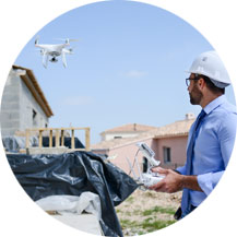 Drone used for construction and real estate production.
