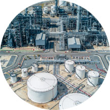 Drone used in monitoring security for oil and gas companies.
