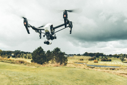 Drones provide surveillance for property inspections.